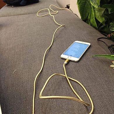 Cáp sạc dài 3M dành cho iphone hỗ trợ sạc nhanh, bọc dây dù siêu bền