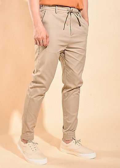 ROUTINE Quần jogger kaki nam cotton co giãn 10F19PJO008-5