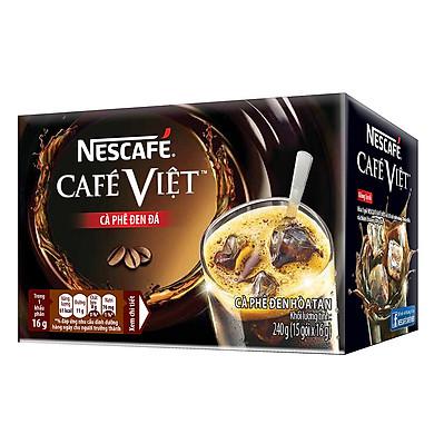 Cà phê hòa tan NESCAFÉ Café Việt Cà phê đen đá - Hộp 15 gói x 16 g
