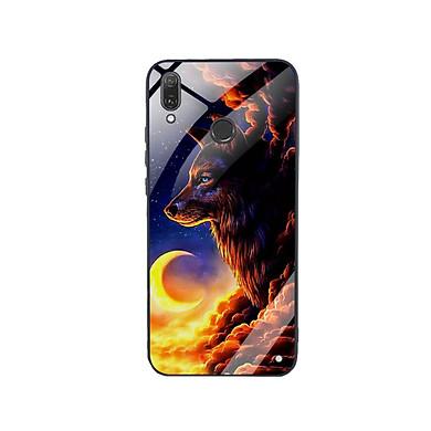 Ốp Lưng Kính Cường Lực cho điện thoại Huawei Y9 2019 - Wolf 03
