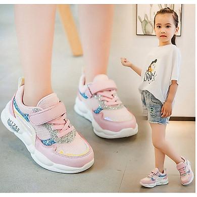 Giày thể thao  phong cách hàn quốc bé gái từ 4  - 15 tuổi  - TTS07