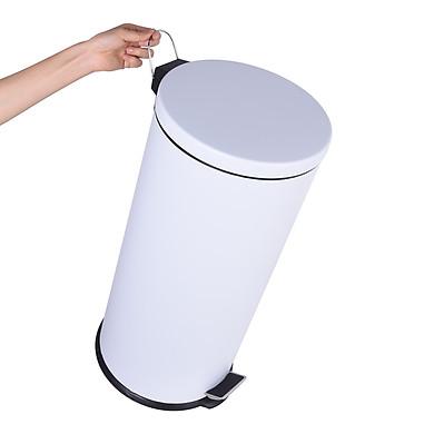 30 Lít - Thùng rác tròn đap chân inox - Sơn tĩnh điện - VNTB30-S