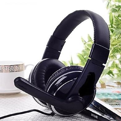 Tai nghe stereo Đa năng có mic dùng cho máy tính dùng để nghe nhạc và trò chuyện