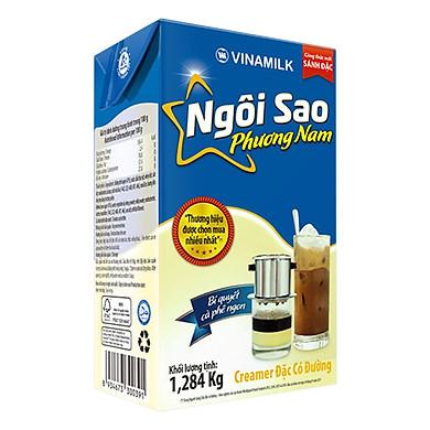Kem Sữa Đặc Ngôi Sao Phương Nam Vinamilk - Hộp Giấy 1284G Xanh Biển
