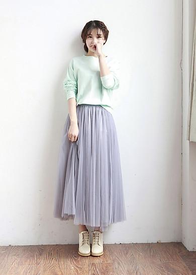Chân váy midi tulle dài | Tiki.vn