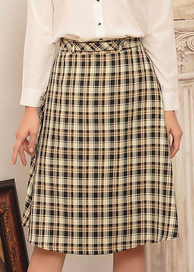 Chân Váy nữ xòe dáng dài thiết kế họa tiết  Caro Gumac Va463
