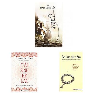 Combo 3 cuốn: Tái Sinh Hỷ Lạc + Cát Bụi Đường Bay + An Lạc Từ Tâm