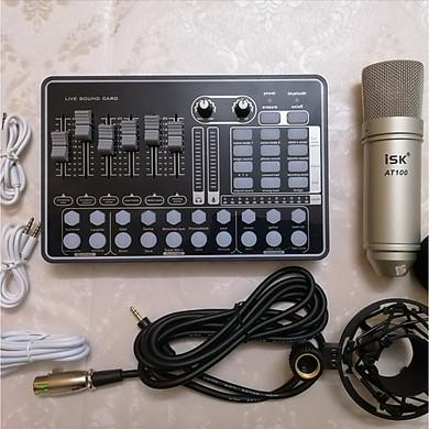 Combo Sound H9 autotune và Micro AT-100  sản phẩm hát karaoke live stream Hàng Nhập Khẩu