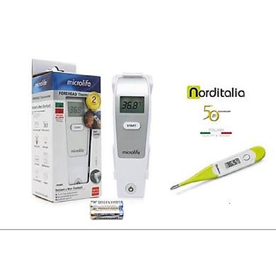 Nhiệt kế hồng ngoại đo trán Microlife FR1MF1 tặng kèm Nhiệt kế dạng bút đầu mềm TD82 NordItalia