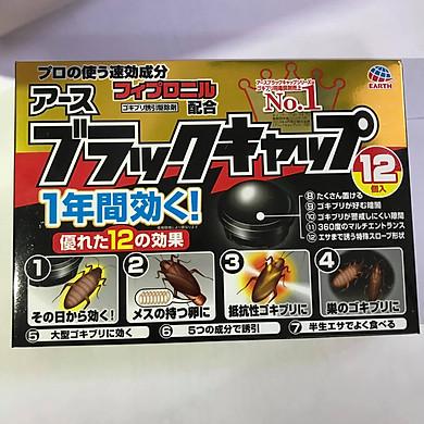 Thuốc diệt Gián dạng viên - hộp 12 viên (mẫu mới - nội địa Nhật)