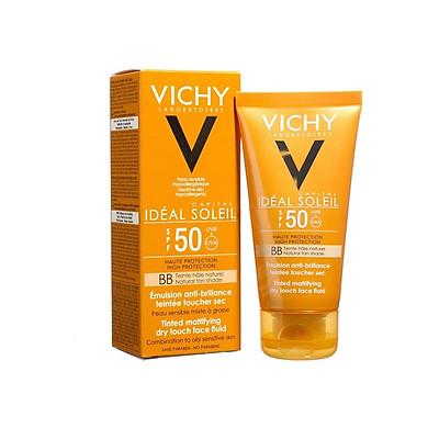 Vichy Capital Soleil BB Emulsion SPF50 - Kem Chống Nắng Che Khuyết Điểm 50ml