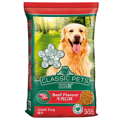 Đồ Ăn Cho Chó Trưởng Thành Hương Vị Thịt Bò Nướng Classic Pets (20kg)