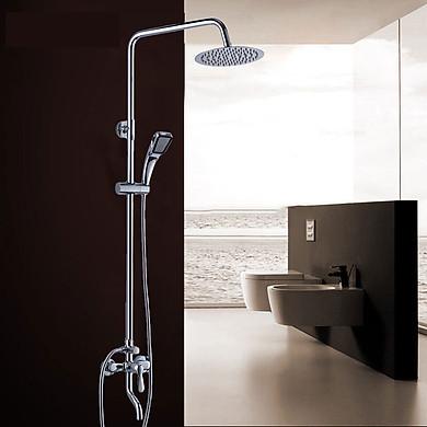 Bộ sen vòi tắm đứng Inox Nóng lạnh Bát tròn 3 vòi