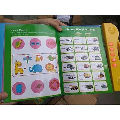 Bảng điện tử song ngữ Anh Việt tặng kèm thước đo chiều cao cho bé