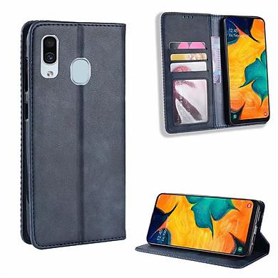 Bao da dạng ví cho SamSung Galaxy A30 Retro Wallet Case