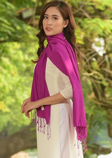 Khăn Lụa Tơ Tằm Bảo Lộc (Tím) Vietnam Silk Gift
