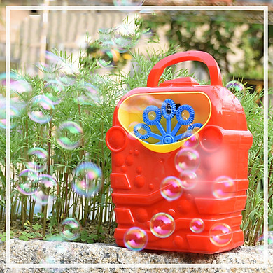 Gobestart Bubble Machine Kids Durable Automatic Bubble Blower Outdoor Toy for Girl Boy