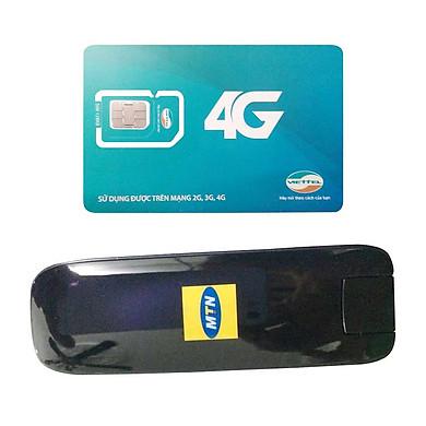 USB 3G Huawei E367 Tốc Độ 28.8Mpbs + Sim Viettel Trọn Gói 12 Tháng 4GB/tháng tốc độ cao - Hàng nhập khẩu