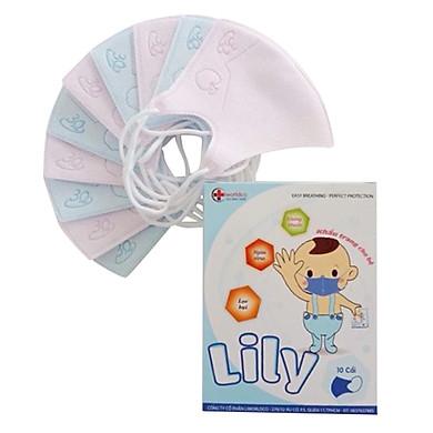 Bộ 5 Hộp Khẩu Trang Y Tế Lily Cho Bé (10 Cái / Hộp)