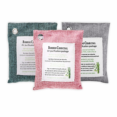 Túi Than Hoạt Tính Khử Mùi, Chống Nấm Mốc, Vi Khuẩn, Khí Độc 100% than tre tự nhiên - 1 túi, giao màu ngẫu nhiên