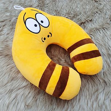 Gối quàng cổ chữ u có tựa đầu hình sâu larva