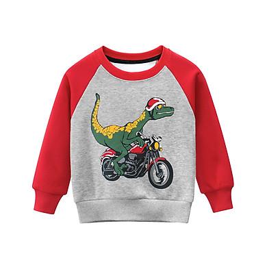 Fun Baby Boys Sweater Dinosaur Cartoon Tops Kids Clothing