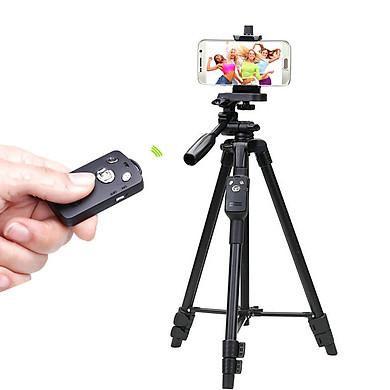 Chân đế bluetooth cho điện thoại, máy ảnh Yunteng VCT-5208RM - Hàng Nhập Khẩu