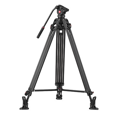 """Chân Máy Quay Phim Hợp Kim Nhôm Có Đầu Giảm Xóc (360 độ) Cho Canon DSLR Sony DSLR ILDC Max (190cm / 74.8 """")"""