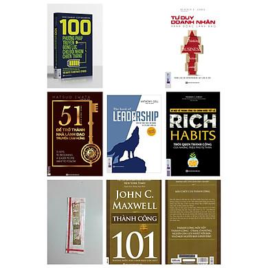 Combo 5 cuốn sách + 100 phương pháp truyền động lực cho đội nhóm chiến thắng + Rich Habits thói quen thành công của những triệu phú tự thân + Tư duy doanh nhân hành động lãnh đạo + 51 chìa khóa vàng để trở thành nhà lãnh đạo truyền cảm hứng + LEADERSHIP Dẫn dắt bản thân, đội nhóm và tổ chức vươn xa) tặng cuốn 101 thành công kèm bookmark kim loại)