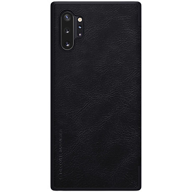 Bao da dành cho Samsung Galaxy Note 10 Plus, Samsung Galaxy Note 10 Plus 5G hiệu Nillkin Qin- Hàng chính hãng