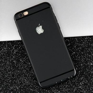 Ốp lưng nhựa dẻo silicon đen trơn cho iphone 6, 6S