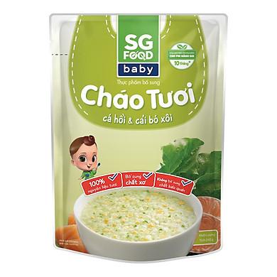 Cháo Tươi Baby Cá Hồi Cải Bó Xôi SG Food (240g)