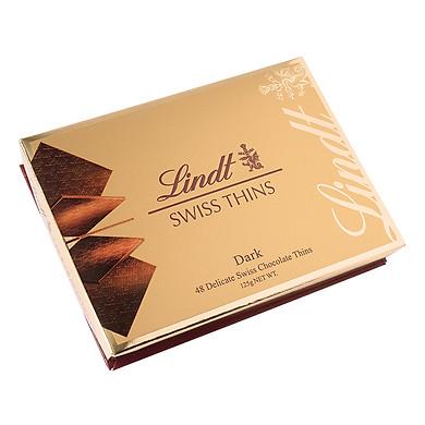 Hộp Quà Socola Lindt Swiss Dark Thin Đậm Cacao (125g)