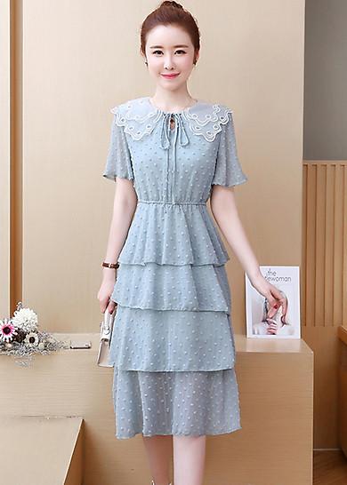 Đầm xòe dạo phố kiểu đầm công chúa phối tầng ROMI1684