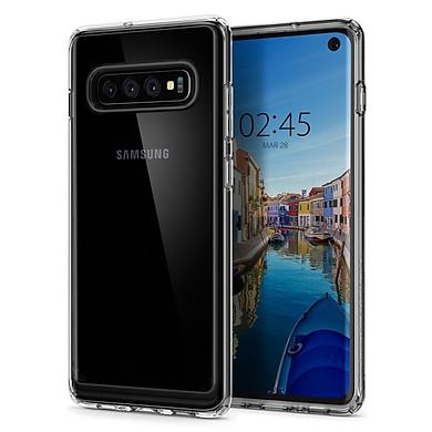 Ốp Lưng  Nhựa Trong Suốt Spigen Ultra Hybrid Cho Samsung Galaxy S10 - Hàng Chính Hãng
