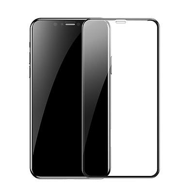 Kính cường lực chống vân tay cho iPhone XS MAX (0,3mm) Baseus curved-screen - Hàng chính hãng