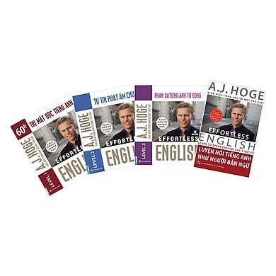 Combo Bộ 4 Cuốn Effortless English - Học Tiếng Anh Như Người Bản Ngữ Cùng Aj Hoge  (Tặng kèm Kho Audio Books)