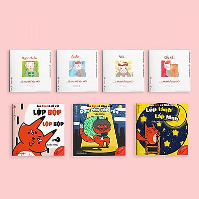 """Combo 2 bộ Ehon """"Chơi cùng cáo Ken"""" và """"Điều kỳ diệu của cảm xúc"""" - Ehon Nhật Bản cho bé 0-6 tuổi"""