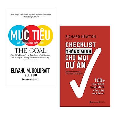 Combo 2 Cuốn Sách Kỹ Năng Làm Việc: Mục Tiêu + Checklist Thông Minh Cho Mọi Dự Án / Những Cuốn Sách Kinh Tế Hay Giúp Bạn Đi Đến Thành Công - Tặng Kèm Bookmark Happy Life