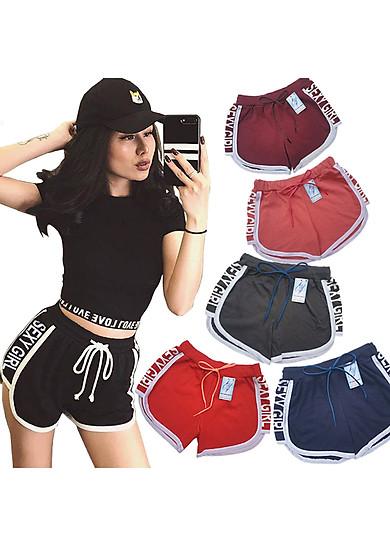 Combo 5 Quần đùi nữ SEXY GIRL dây rút, thể thao, tập gym, yoga, mặc nhà, giá rẻ, quần short nữ cao cấp ( Giao màu ngẫu nhiên )