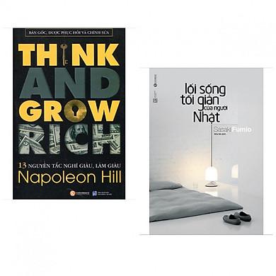 Combo 13 Nguyên Tắc Nghĩ Giàu Làm Giàu - Think And Grow Rich + Lối sống Tối Giản của người Nhật ( Bộ 2 cuốn kỹ năng sống và làm giàu )