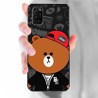 Ốp lưng dành cho Oppo A92  mẫu Gấu nón đỏ