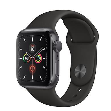 Đồng Hồ Thông Minh Apple Watch Series 5 GPS Only Aluminum Case With Sport Band (Viền Nhôm & Dây Cao Su) - Nhập Khẩu Chính Hãng