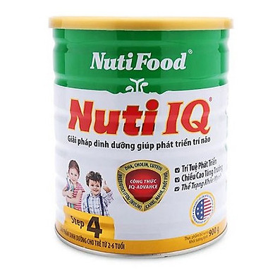 Sữa tăng cường DHA cho trẻ 2-6 tuổi phát triển trí não, thị giác Nuti IQ Step 4 (900g)