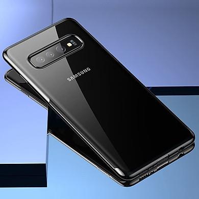Ốp lưng Silicone dẻo trong suốt viền si Crome màu Baseus Shining Case cho Samsung Galaxy S10 / S10 Plus- Hàng chính hãng