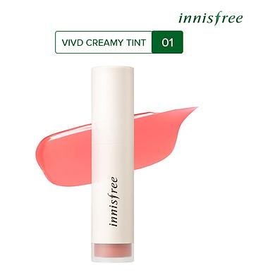 Son Tint Bóng Ẩm Mượt Innisfree Vivid Creamy Tint (4.8g)
