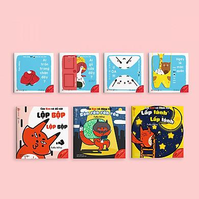 Combo 7 cuốn sách Ehon Chơi cùng cáo Ken và Chơi cùng Giri - Chú bé cơm nắm phần 2