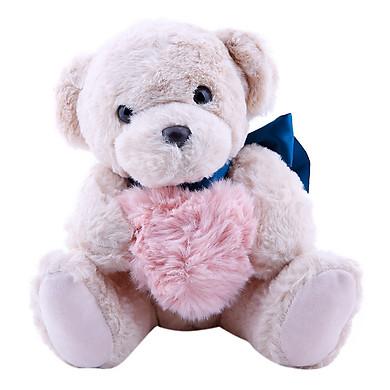 Gấu Ôm Tim Bông Màu Thanh Trà
