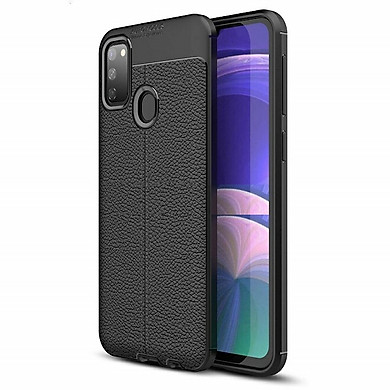 Ốp lưng Samsung Galaxy M21 silicone dẻo giả da hiệu Auto Focus - Hàng Chính Hãng