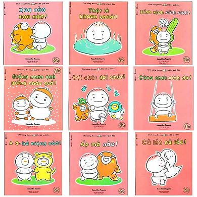 Ehon Nhật Bản nuôi dưỡng tâm hồn: Momo Chú Bé Quả Đào Chơi cùng Momo phát triển kỹ năng vận động và cảm xúc (Bộ 9Q - Phần 3)
